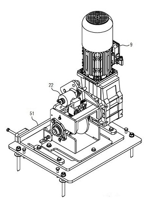 drive motor of a small-parts device (conveying technology)