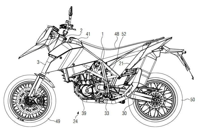 patent right Motorcycle with innovative grid frame