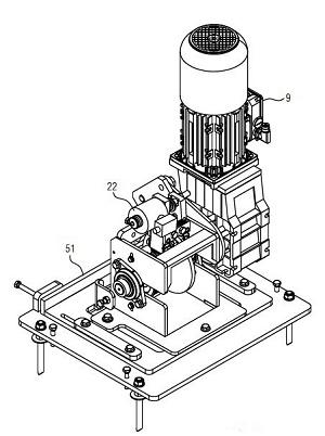 Bild: Antriebsmotor eines Kleinteilegeräts (Fördertechnik)